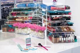 clear acrylic makeup organizer w drawers ediva