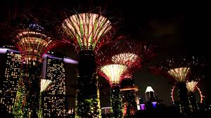pictures of night lights singapore gardens by the bay light show youtube