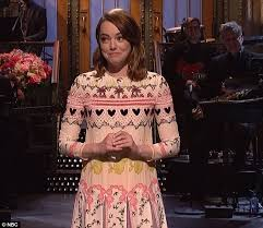 emma stone hosts snl for third time daily mail online