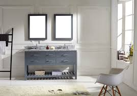 virtu usa caroline estate 60 bathroom vanity cabinet in grey