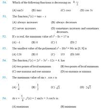 important questions for class 12 maths chapter 6 applications of