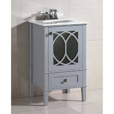 20 Inch Bathroom Vanity With Sink by Wyndenhall Mulberry 20 Inch White Quartz Marble Top Bath Vanity