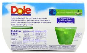 Fruit Bowls by Amazon Com Dole Fruit Bowls Pineapple In Lime Gel 4 3 Cups