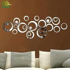 wall ideas circle wall decor stickers metal mirror wall decor in gold round wall decor diy circles mirror wall stickers removable vinyl art mural wall stick home decor for room decals decoration wallpaper stickers for