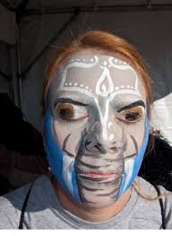 native american face paint women elephant painted 130427