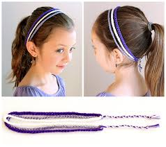 crochet hair band easy 3 strand crochet headband dabbles babbles