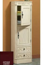 free standing linen cabinets for bathroom wonderful freestanding linen cabinets signature hardware in cherry