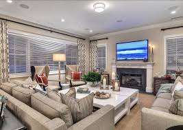 Family Room Touches Of Nautical Red And Sea Blue Add Color To - Large family room design
