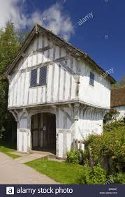 the gatehouse over the moat to lower brockhampton house the
