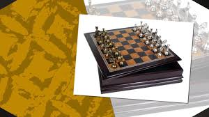 metal chess set with deluxe wood board and storage youtube