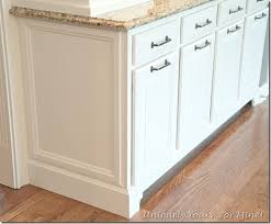 how to trim base cabinets i like how the front has a curved trim at the base cabinet