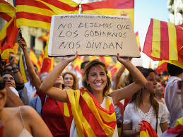 catalan referendum thousands march for spanish unity ahead of