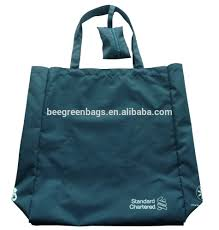 promotional cheap foldable nylon eco bag with small pouch buy