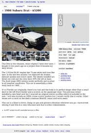 subaru brat for sale craigslist for 5 200 you could pickup this 1986 subaru brat