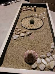 Mini Zen Rock Garden My Mini Zen Garden Made With Sand And Objects Personally Found By