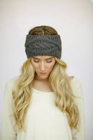 headband ear warmer cable knit headband ear warmer gray products i
