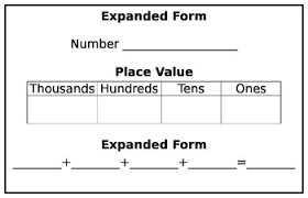 place value in expanded form number concepts mrs funk s class