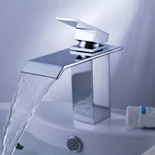Taps Bathroom Vanities by Ouku Single Handle Waterfall Bathroom Vanity Sink Faucet With