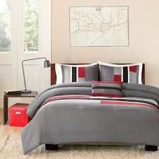 Full Xl Comforter Sets Shop Mizone Pipeline Red Comforter Sets The Home Decorating Company