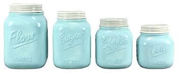 blue kitchen canister set ceramic mason jar blue kitchen canister sets 4 piece ceramic mason