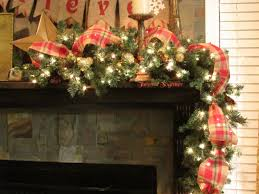 primitive burlap garland ribbon 5in wide plaid christmas ribbon