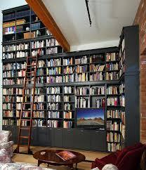 Classic Bookshelves - custom home media center designs classy closets
