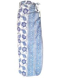 fair trade ethical and eco dyes blue floral sarong wrap