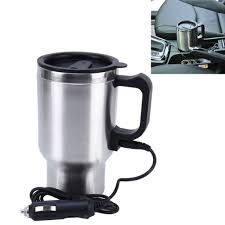 3 89 stainless steel electric smart mug 12v car electric kettle
