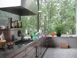 Narrowed I Shaped Kitchen Idb Modern Interior Stainless Steel Kitchen Blurring