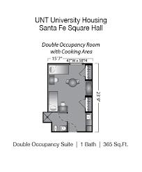 unt santa fe square hall denton college apartment source