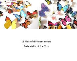 Butterfly Wall Decals For Nursery by Amaonm 19 Pcs Removable Diy Pvc 3d Colorful Butterfly Wall