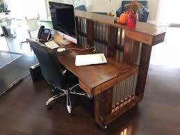 Metal Reception Desk The Provincial Desk 6 U0027 Foot Mobile Corrugated Metal Reception Desk