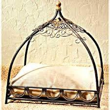 fleur de lis canopy pet bed