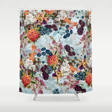 botanical shower curtains society6