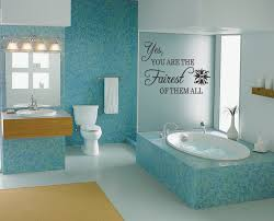 bathroom walls ideas bathroom wall decal fairest of them all princess vinyl wall