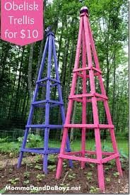 Make Your Own Cucumber Trellis Obelisk Trellis Diy Trellis Wood Trellis Bean Trellis Cucumber