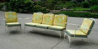 Outdoor Material For Patio Furniture Vintage Woodard Wrought Iron Patio Furniture Outdoor Sofa Designs