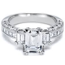 three emerald cut engagement rings this is my engagement ring except my center is radiant