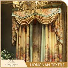 modern design cheap nice polyester custom african printed curtains