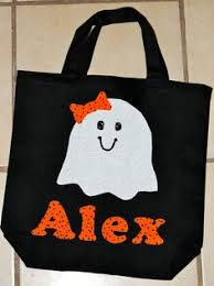 personalized trick or treat bags personalized trick or treat bags heat transfer silhouettes and bag