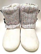 womens slipper boots size 9 order home collection memory foam slipper boots size lg ebay