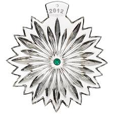2012 waterford snowflake wishes courage ornament silver