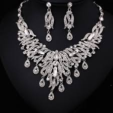 big rhinestone necklace images 7286w hot sale women crystal rhinestone bridal jewelry set african jpg