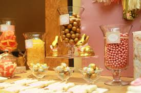 Pink And Gold Dessert Table by Customer Party Pink And Gold Dessert Table Handmade Decor