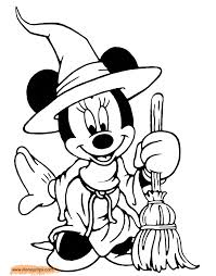 minnie mouse halloween coloring pages great mickey mouse halloween