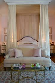curtain over bed bedroom canopy beds that will convince you to get one with view in