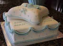 little boy baptism pillow cake