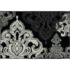 Damask Bath Rug Black And White Damask Bath Mat Towels Home Autumn Winter