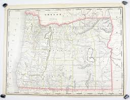 Oregon Map Of Counties by Oregon Railroad And County Native American Reservations Antique