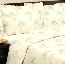 Coverlet Sets Bedding Tropical Palm Tree Cotton Matelasse Quilt Coverlet Set King